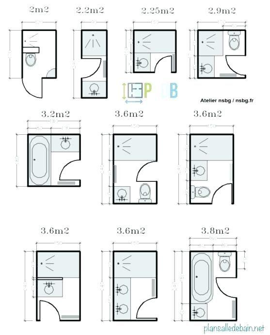 Plan Salle De Bain 7m2 Small Bathroom Plans Small Bathroom Floor Plans Bathroom Floor Plans