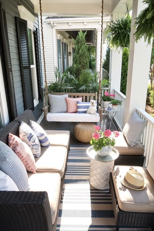 Small Front Porch Decorating: 12 Unique Ideas for Summer  Gray