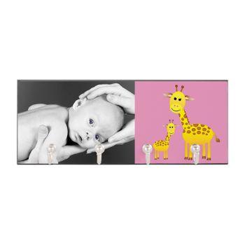 Giraffe Baby Photo Key Hanger