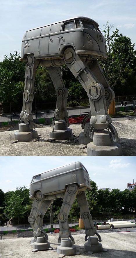 VW MicroBus AT-AT - for the school commute