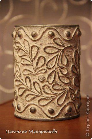 Декор предметов Бумагопластика стаканчик для  Бумага Клей Краска фото 2