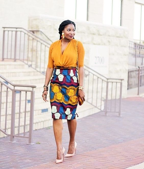 The Most Stylish Ankara Skirt Styles in Vogue | Stylish Gwin Africa