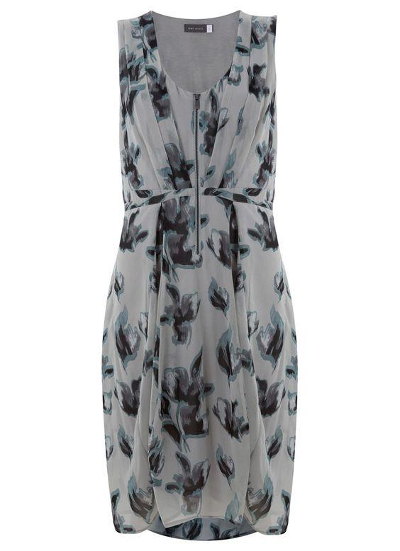 Zena Print Zip Front Dress