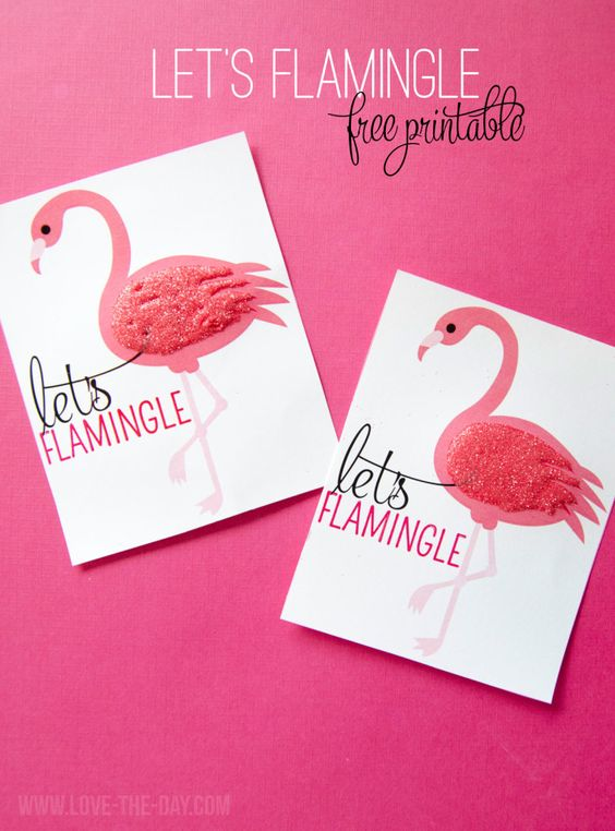 FREE Printable Flamingo Party Favors by MichaelsMakers  Love The Day