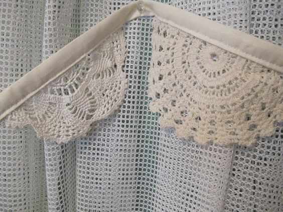 Vintage Doily Bunting  Wedding  Nursery  by rediscoveredmemories