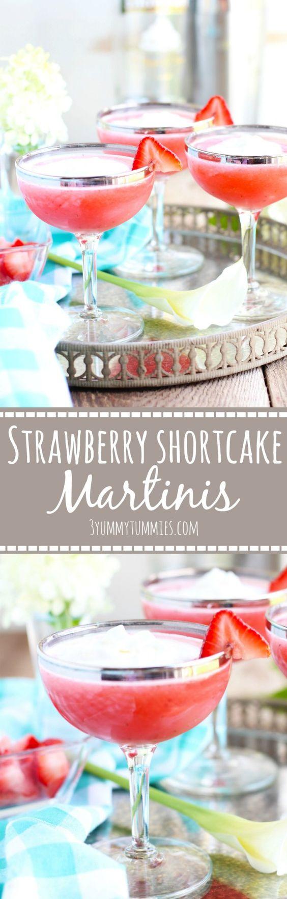 Strawberry Shortcake Martinis