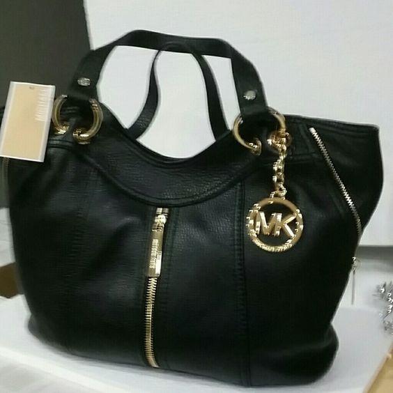 prada mini bag pink - RESERVED! Michael KORS Black Leather Purse | Shoulder Purse, Black ...
