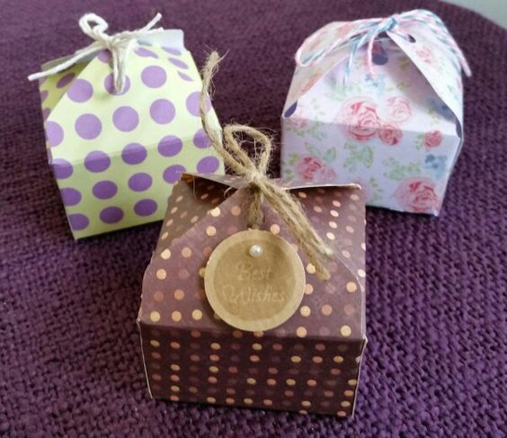 Gift boxes using 6 x 6 papers and memory keepers envelope board