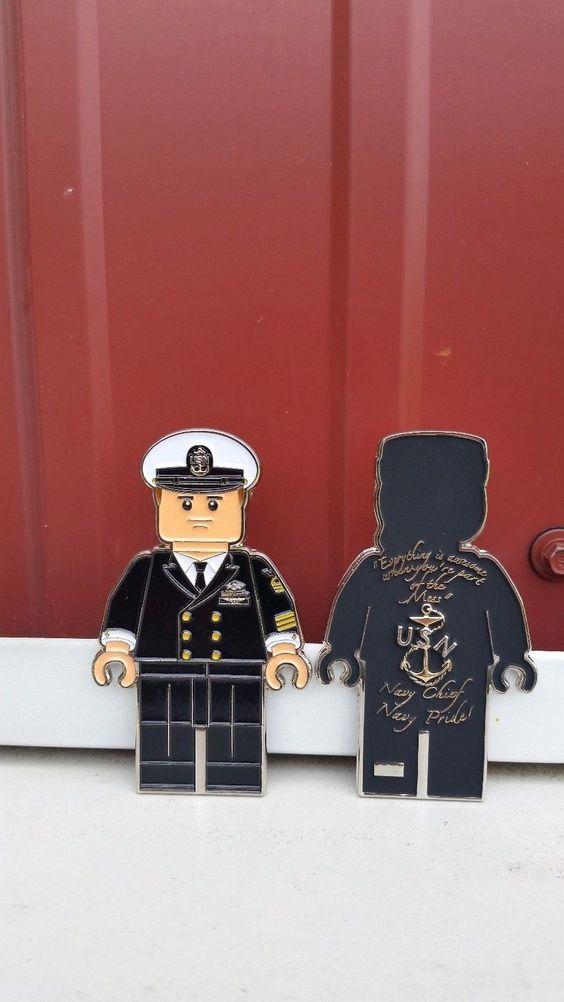 Navy Chief Mini Figurine Male and Female Dress Blues Set CPO Challenge Coin | eBay
