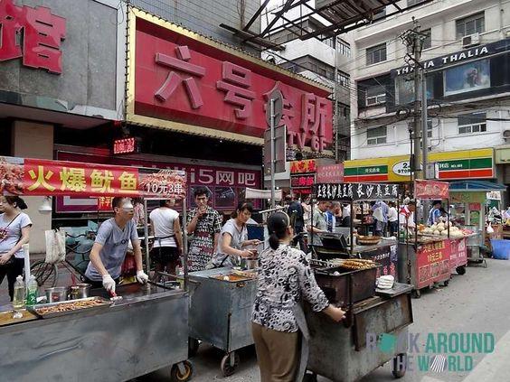 Innenstadt von Xi'an, China