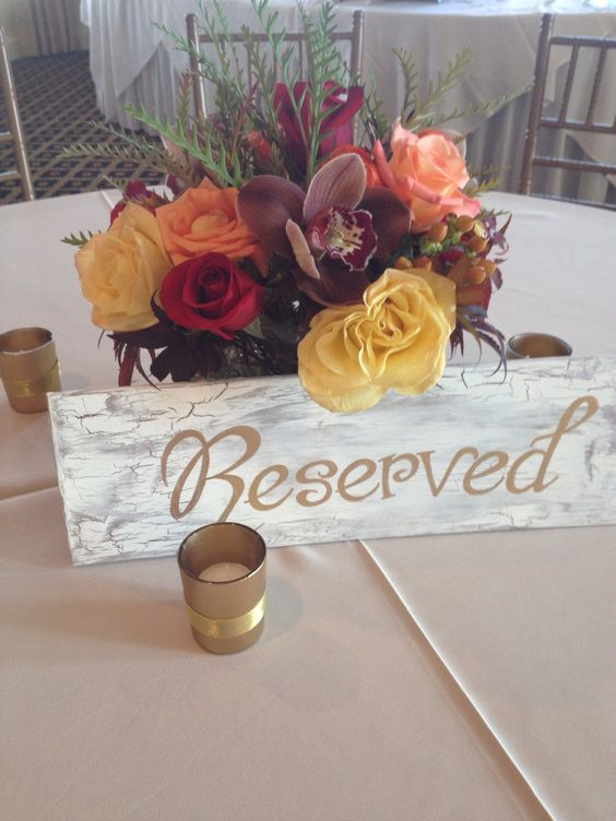 Custom 'Reserved' table sign