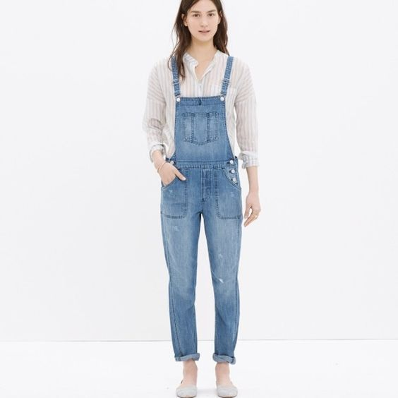 """MADEWELL Park Overalls in Dixon, L, NWT MADEWELL Park Overall in Dixon Wash, size L, 29""""inseam, slouchy fit, NWT Madewell Pants"""
