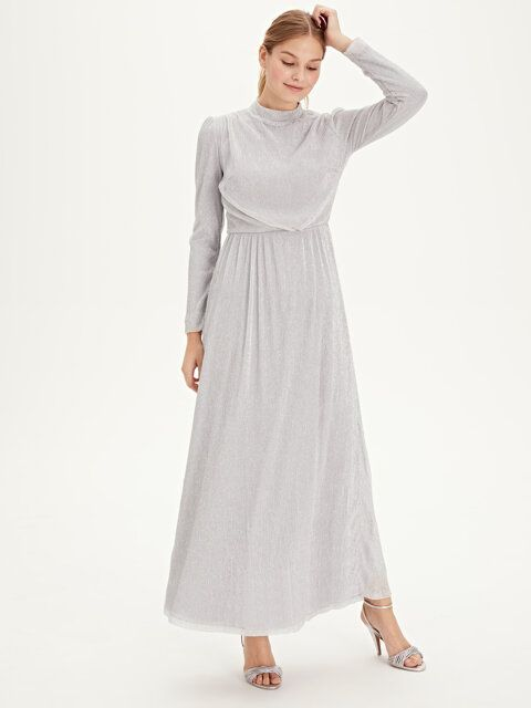 Isiltili Uzun Sifon Abiye Elbise 2020 Elbise The Dress Elbiseler