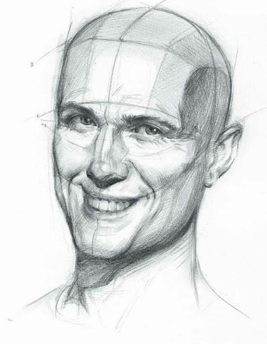 Esboco Espetacular Do Rosto Masculino Desenho De Rosto Desenhos