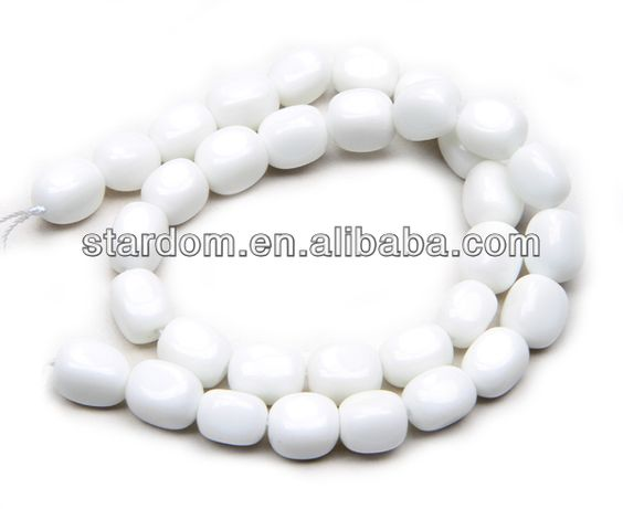 White agate 10x12mm natural white agate beads