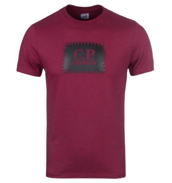 CP Company Blackcurrant Stamp Print T-Shirt