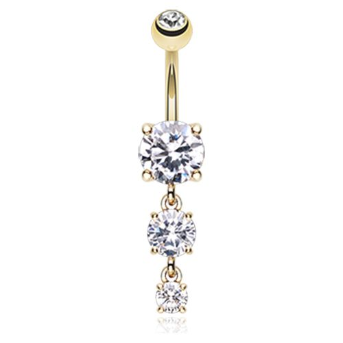 Nombril cascade diamant