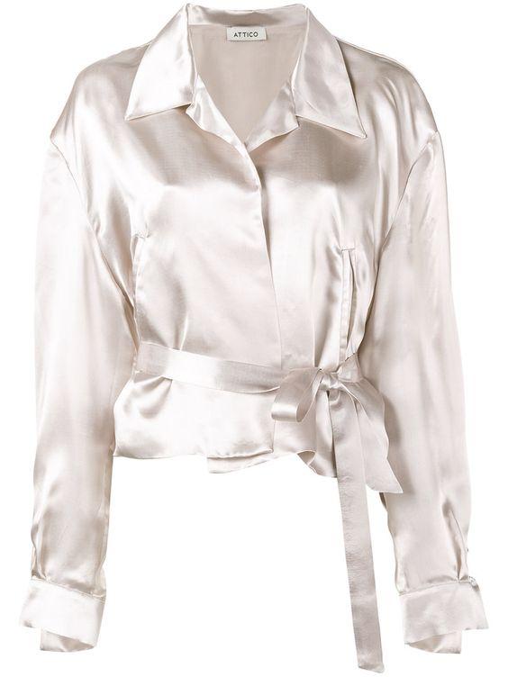 ¡Cómpralo ya!. Attico - Andrea Bomber Shirt - Women - Viscose - 2. Pink Andrea bomber shirt from Attico. Size: 2. Color: Nude/neutrals. Gender: Female. Material: Viscose. , chaquetabomber, bómber, bombers, bomberjacke, chamarrabomber, vestebomber, giubbottobombber, bomber. Chaqueta bomber  de mujer color beige de ATTICO.