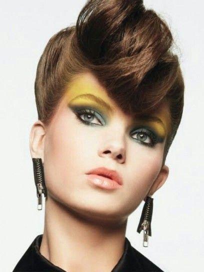 Maquillaje años 80 P/V 2014: Sombra amarilla