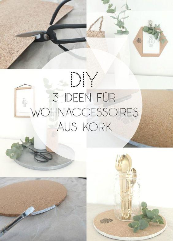 [DIY] ↠ 3 Ideen für Wohnaccessoires aus Kork ♡