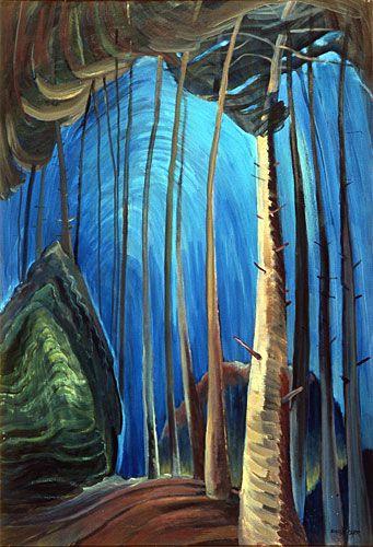 """Blue Sky"" by Emily Carr, 1936."