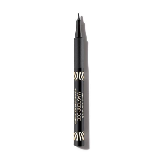 Max Factor Masterpiece High Precision Liquid Eyeliner is very very pigmented, the tip is easy to guide for a sharp wing! It's AMAZING!!!