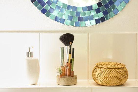 Deko-Objekte - Kosmetikständer - Beton Kupfer Glas - ein Designerstück von GlassworkRuhr bei DaWanda
