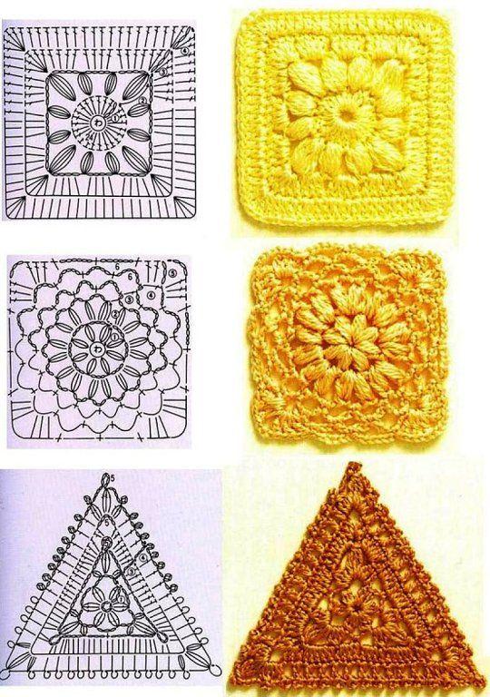Patrones de cuadros al crochet - Imagui   Bolsos varios   Pinterest ...