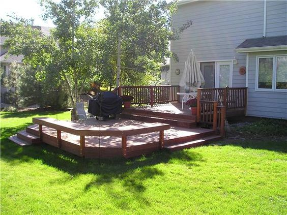 Low elevation deck picture gallery patio pinterest for Dream backyard designs