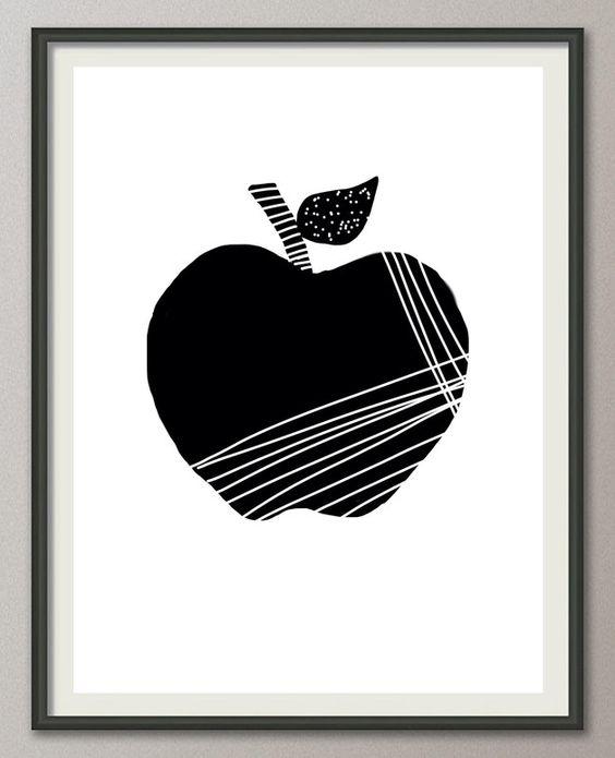 apfel- bild, küche, poster, obst, Druck, Print