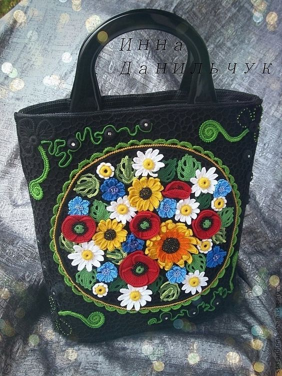 Irish lace bag by Inna Danilchuk