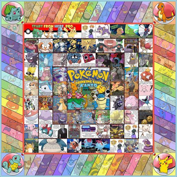 Pokemon Drinking Game Template