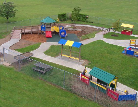 Accessible preschool playground designed by the for Kindergarten playground design