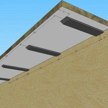 Knee Wall Hidden Granite Bracket Hidden Counter Top