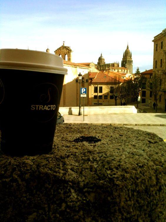 Café de @CoffeeCornerSA y estas vistas .... Me encanta! #Salamanca #ConcursoCorner - Picture taken by MhC