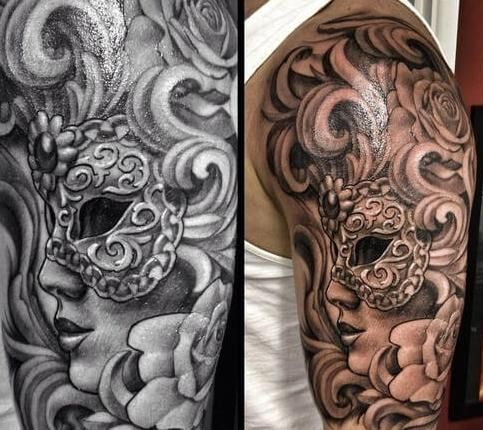 Whoops Baroque Tattoo Filigree Tattoo Masquerade Tattoo
