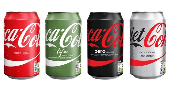 "New packaging developed as part of Coca-Cola's ""One Brand"" positioning"