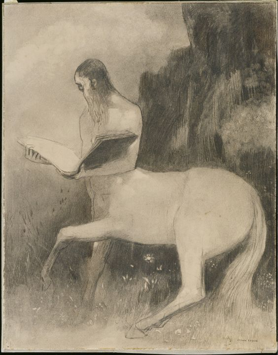 Odilon Redon (1840-1916), Reading Centaur: