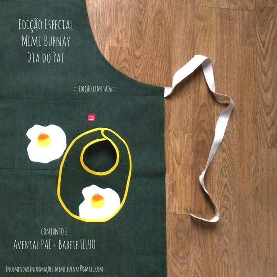 """<p>A <a href=""""https://www.facebook.com/pages/Mimi_Burnay/614306568586598?fref=ts"""" target=""""_blank"""">Mimi Burnay</a> tem duas sugestões cheias de alegria e simplicidade.</p> <p>Esta primeira é super original, para o pai que sabe pilotar o fogão e a colher da papa na perfeição!</p>"""