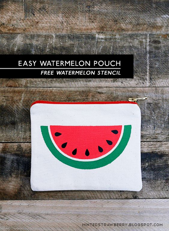 Watermelon slices, Free stencils and Watermelon on Pinterest