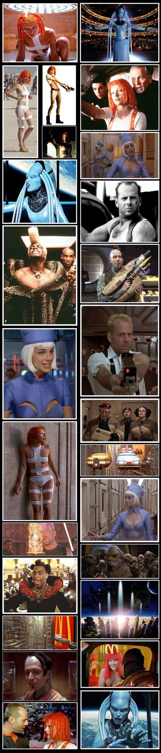 Love The Fifth Element (I know some of these aren't from the film, but they're still awesome!):