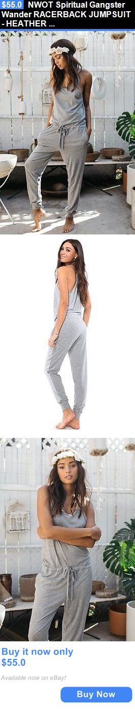 053e4b17eaf Jumpsuits And Rompers  Nwot Spiritual Gangster Wander Racerback Jumpsuit -  Heather Grey Romper Small BUY