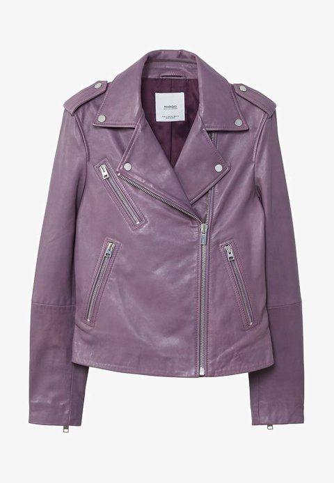Mango Women/'s Black Faux Leather Cropped Biker Jacket UK SIZE SMALL