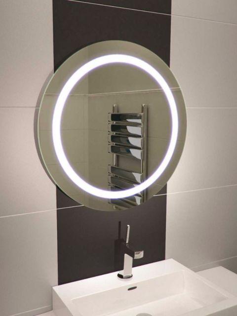 Led Illuminated Bathroom Mirror With Sensor And Demister Acacia