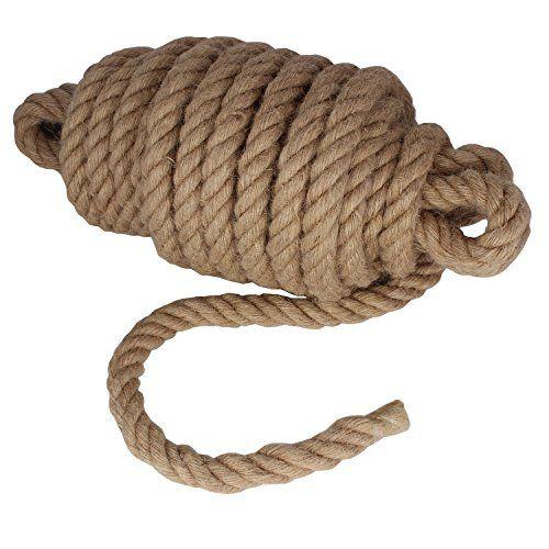 Twisted Manila Rope Jute Rope 50 Feet Natural Jute Twine Hemp Rope 1 Inch Diameter Twine Burlap Rope Rope Art Jute Rope Jute Twine