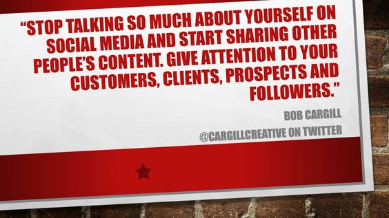 Stop talking so much about yourself on #SocialMedia...