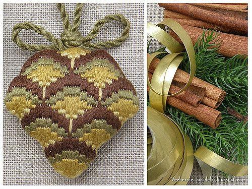 Christmas pine cone (bargello) | par Tatyana_posidelki