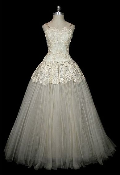 Vintage 1950's Christian Dior wedding gown