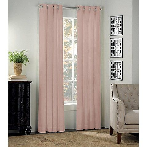 Newport 63 Inch Grommet Window Curtain Panel In Blush Panel