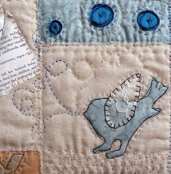 art quilt by janelafazio, via Flickr